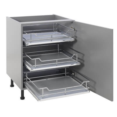 25kg Single Soft Close Pull Out Organiser - Cabinet Width 400mm