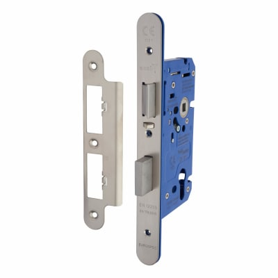 A-Spec Architectural DIN Euro Escape Sashlock - 85mm Case - 60mm Backset - Radius - Satin Stainless