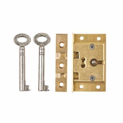 Cut Box Lock - 51 x 30mm - Brass