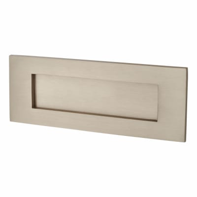 M Marcus Letter Plate - 203 x 76mm - Satin Nickel