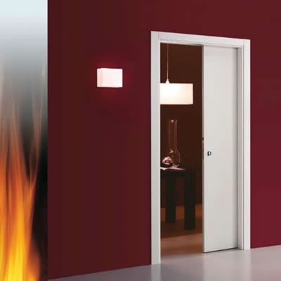 Eclisse Single Fire Pocket Door Kit - 100mm Finished Wall - 914 x 1981mm Door Size