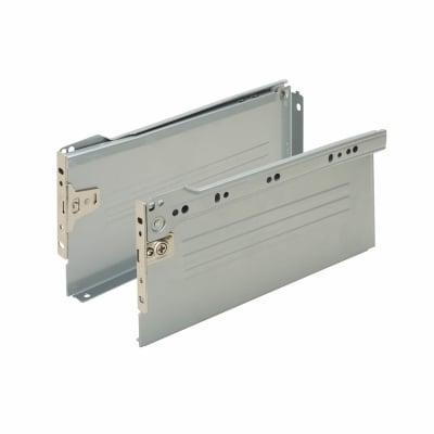 Motion Innobox Metal Drawer Runner Pack - (H) 118mm x (D) 450mm - Silver Grey
