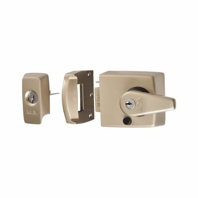 ERA® BS3621:2007 Double Locking Nightlatch - 60mm Backset - Satin Nickel
