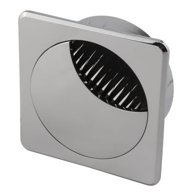 ION Square Cable Tidy - 60mm - Chrome
