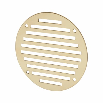 Circular Slotted Vent - 127mm - 4145mm2 Free Air Flow - Polished Brass