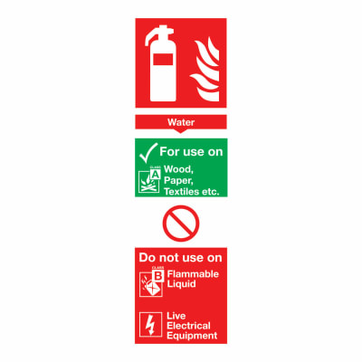 Water Extinguisher - 300 x 100mm