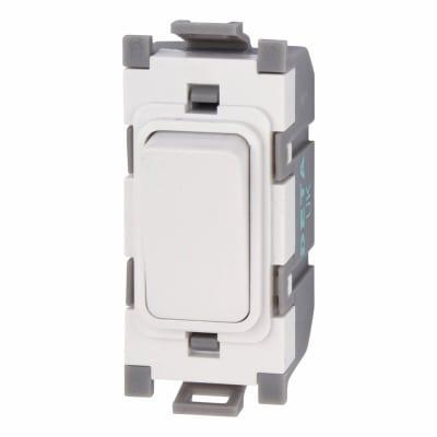 Deta 10A 2 Way Single Pole Grid Switch - White