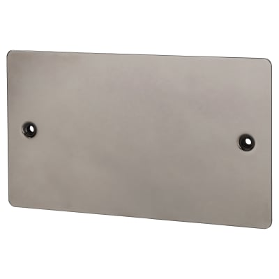 BG 2 Gang Flatplate Blank Plate - Black Nickel