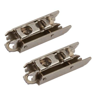 Blum CLIP Straight Mounting Plate - Screw On - 3mm Spacing Nickel Plated - Pair