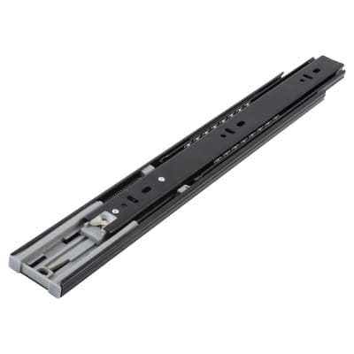 Motion 45.5mm Ball Bearing Drawer Runner -  Soft Close - Double Extension - 650mm - Black