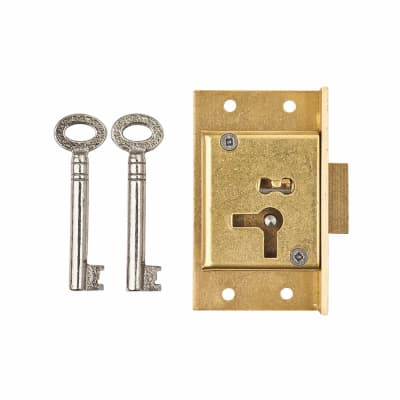 Cut Cupboard Lock - 63 x 38mm - Right Hand