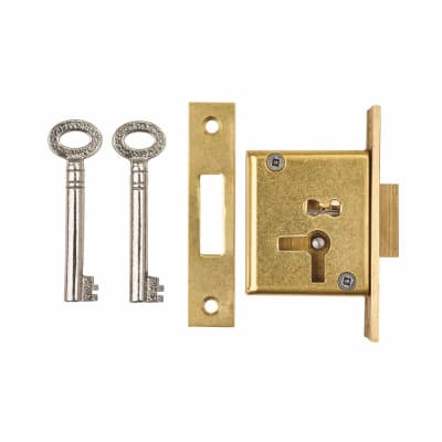 Cabinet Mortice Deadlock - 63 x 32mm - Right Hand