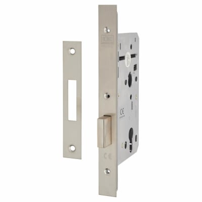 Union JHD72DL Heavy Duty Euro Deadlock  - 60mm Backset - Square - Satin Stainless Steel