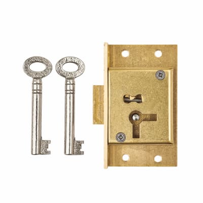 Cut Cupboard Lock - 63 x 38mm - Left Hand