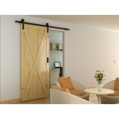 Barrierslide Barn Strap Sliding Door Gear- 2000mm - Black