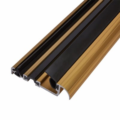 Exitex Low Height Macclex Threshold - Thermally Broken -1800mm -Inward Opening Doors -Gold Anodised