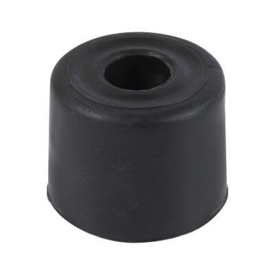 PVC Floor Door Stop - 28mm - Black - Pack 10