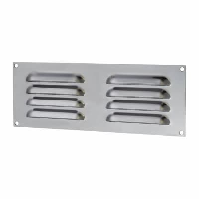 Hooded Louvre Vent - 242 x 89mm - 3973mm2 Free Air Flow - Polished Stainless