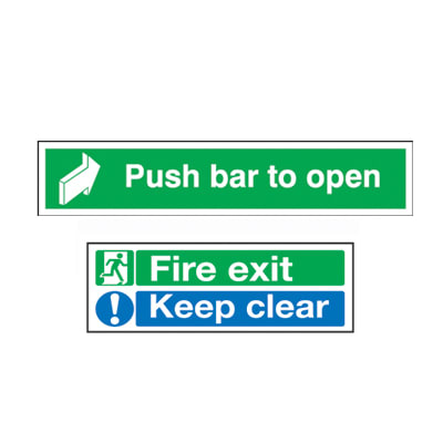 Fire Exit Door Sign Pack - Rigid Plastic