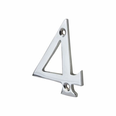 76mm Numeral - 4 - Polished Chrome