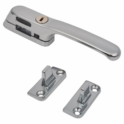 Fab & Fix Craftsman Casement Fastener Locking - Chrome