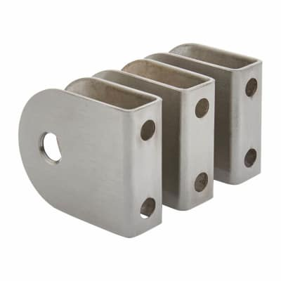 Cubicle Wall Brackets - 12-13mm Panels - 304 Stainless Steel - Pack 3