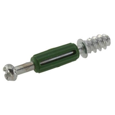 Self Drive Dowel - Cam Centre/Pin Length 32mm - Green - Pack 50