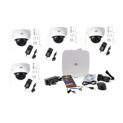 Burg Wachter BURGcam - 4 Wi-Fi Dome Camera CCTV Kit - 1TB