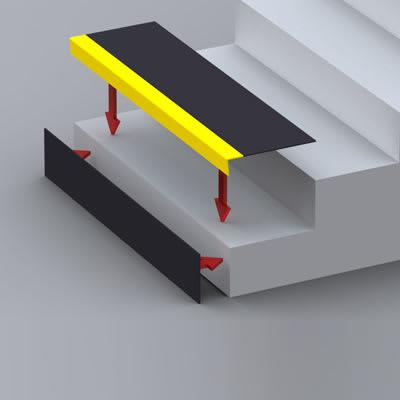 SlipGrip Stair Tread - 750 x 345 x 55mm - Yellow
