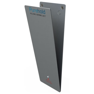 Purehold Antibacterial Door Push Plate- Full Starter Pack - 600mm x 120mm - Silver