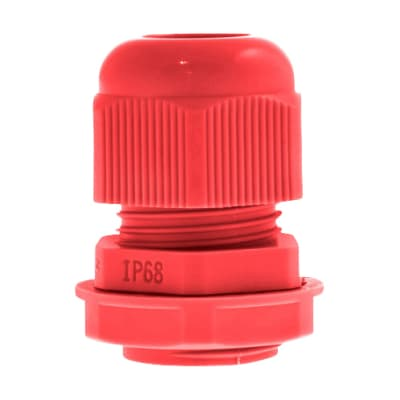 Unicrimp Nylon Cable Gland - 32mm - Red - Pack 10
