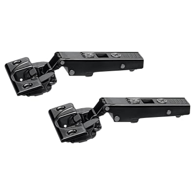 Blum CLIP Top Soft Close Cabinet Hinge - 110° - Overlay - Black Onyx - Pair