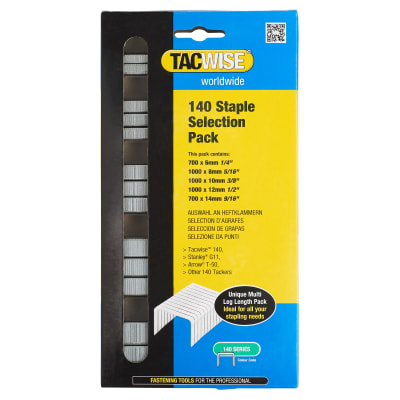 Tacwise 140 Series Staples (T50, G11, 140) - Selection Pack - Galvanised - Pack 4400
