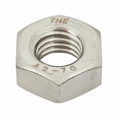 TIMco Hex Full Nut - M10 - A2 Stainless Steel - Pack 10