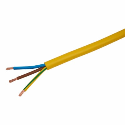 3183AG 3 Core Arctic Grade Cable - 4mm² x 100m - Yellow