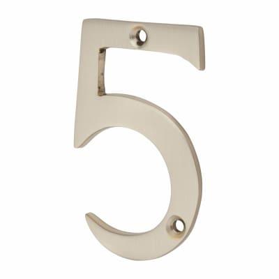 Morello Door Numeral - 5 - 76mm - Satin Nickel