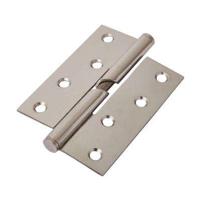 Stainless Steel Falling Butt Hinge - 100 x 75 x 2mm - Right Hand - Polished Stainless - Pair