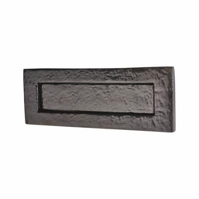 Colonial Plain Letter Plate - 254 x 90mm - Metalized Antique Black Iron