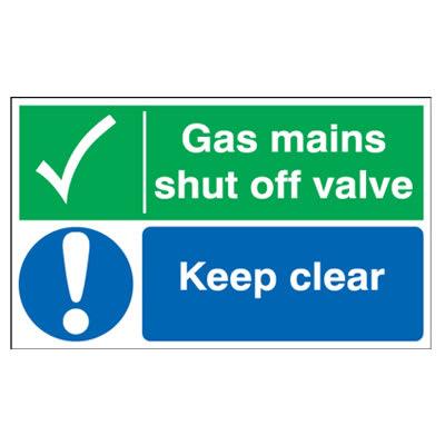 Gas Mains Shut Off Valve/Keep Clear - 300 x 500mm