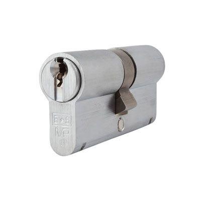Eurospec MP10 - Euro Double Cylinder - 32[k] + 32mm - Satin Chrome  - Keyed Alike