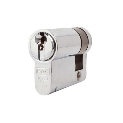 Eurospec MP10 - Euro Single Cylinder - 32 + 10mm - Polished Chrome  - Master Keyed