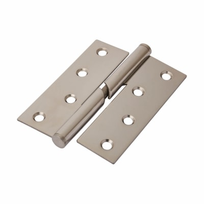 Stainless Steel Falling Butt Hinge - 100 x 75 x 2mm - Left Hand - Polished Stainless - Pair