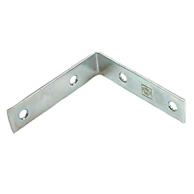 Corner Angle Bracket - 50mm - Bright Zinc Plated - Pack 10