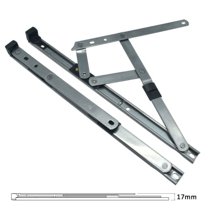 Standard Friction Hinge - uPVC/Timber -†16mm Stack - 12 inch / 300mm - Side Hung - Pair
