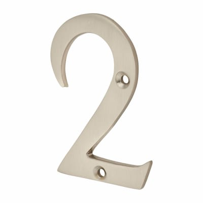 Morello Door Numeral - 2 - 76mm - Satin Nickel
