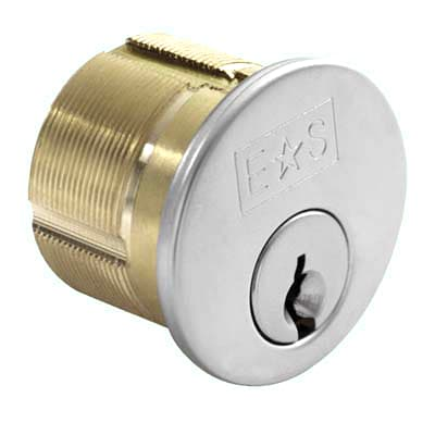 Threaded Rim Cylinder - Keyed to Differ - Satin Chrome  - Master Keyed