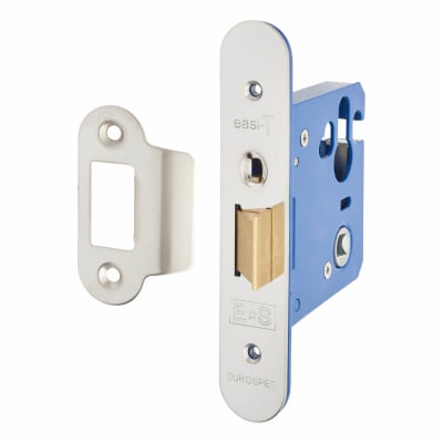 A-Spec Architectural Mortice Nightlatch - 76mm Case - 57mm Backset - Radius - Brushed Stainless