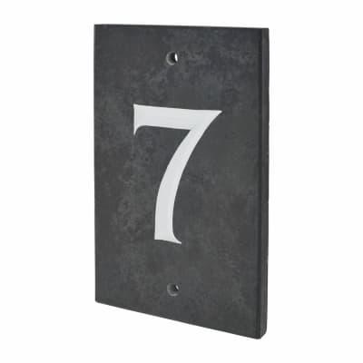 Slate Numeral - 7 - Polished Black