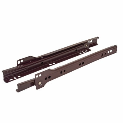Motion Base Mounted Drawer Runner - Single Extension - 550mm - Brown