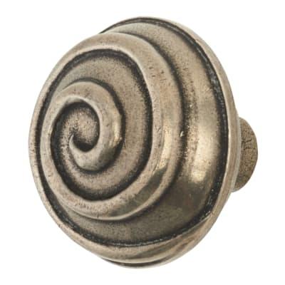 Finesse Swirl Cabinet Knob - 45mm - Pewter